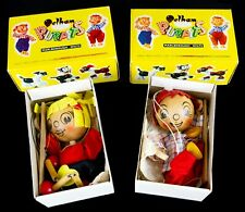 PELHAM PUPPETS -WH BOY & GIRL- ORIGINAL CHARACTER FIGURE TOYS, BOXED
