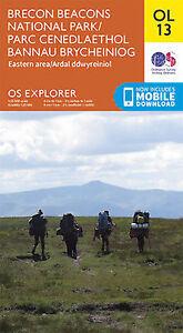 OL13 Brecon Beacons Eastern & Northern Ordnance Survey Explorer Map OL 13