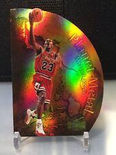 1998 Michael Jordan Metal Universe Planet Metal Die-Cut Rare #1