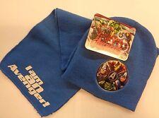 Marvel Avengers * Schal + Mütze* Blau * Winter-Set * Neu