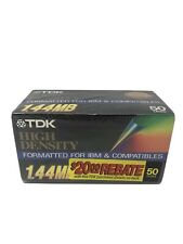 "50 New TDK 3.5"" Floppy Disks High Density 1.44 MB Formatted IBM and Compatibles"