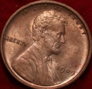 Uncirculated 1909 VDB Philadelphia Mint Copper Lincoln Wheat Cent