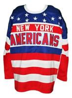 Any Name Number Size New York Americans Retro Custom Hockey Jersey