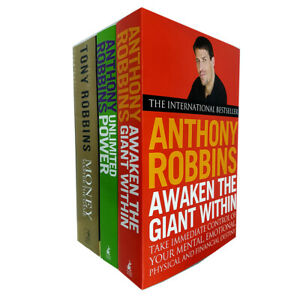 Tony Robbins 3 Books Collection Set (Awaken The Giant Within, Unlimited Power)
