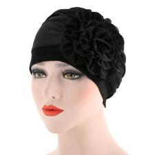 Women India Hat Muslim Ruffle Cancer Hat Pearl Beanie Scarf Turban Head Wrap Cap