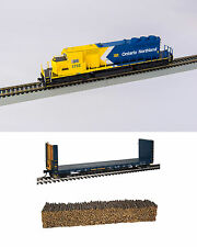 Bowser Ontario Northland ONR SD40-2 White Chevron 1733 with flat car - DCC Sound