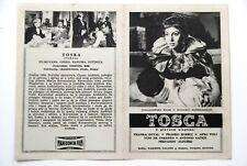 TOSCA ITALIAN GALLONE DUVAL 1956 RARE EXYUGO MOVIE PROGRAM