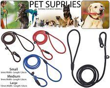Strong Nylon Slip On Rope Dog Puppy Pet Training Lead Leash No Collar Needed