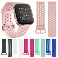Soft Silicone Sport Strap Breathable Band For Fitbit Versa  2 Watch
