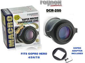 GOPRO HERO5 BLACK HERO6 HERO7 HERO8 SUPER MACRO ATTACHMENT ADAPTER INCLUDED