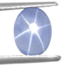 Natural Blue Star Sapphire Oval Cabochon Unheated 8x6 mm Burma Xmas Sale