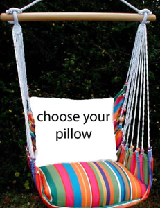 MAGNOLIA CASUAL HAMMOCK SWING SET - LE JARDIN Choose Your Pillow