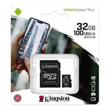 Kingston 32GB Class10 microSD SD SDHC Flash Memory Card 100MBs U1 A1 SDCS2/32GB