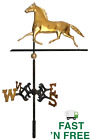 Antique Copper with Gold Gilt Hollow-Body Trotting Horse Weathervane