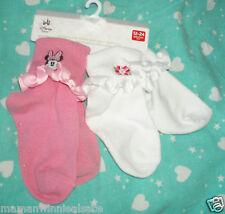 lot 2 paires de chaussettes neuves disney store minnie taille 12-24 mois