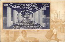 Poster Art Deco - Lee Line US Mail Steamships Black Americana Border gfz PC