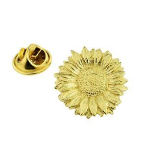 Van Gogh Style Sunflower Design Golden Pewter Lapel Pin Badge XWTP162