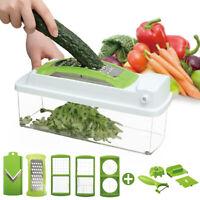 Professional Vegetable Cutter Fruit Chopper Slicer w/ Container Salad-MakingTool