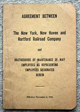 1936 NEW YORK NEW HAVEN HARTFORD RAILROAD Rules Regulations BROTHERHOOD Way