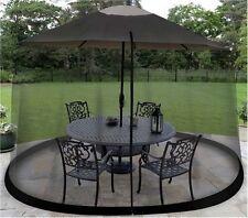 9-Foot Umbrella Screen Outdoor Mosquito Net Canopy For Patio Yard Tent, Black