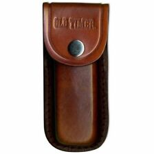"""Schrade Brown Leather Sheath For Uncle Henry Bear Paw Knife & 5"""" Closed Similar"""