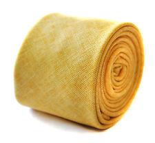 Frederick Thomas Mens SKINNY Yellow Gold Linen Tie Ft1904 6.5cm