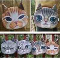 Handtasche Katze Gesicht Cat braun beige Damen Tasche Kunstleder Style Mittel
