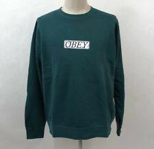 Obey Men's Pigment Box Crew Sweatshirt Philosophy Dusty Pine Size L NWT