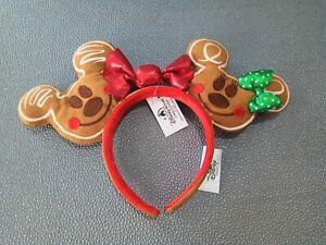 NEU DISNEY Ohren Weihnachten Disneyland Mickey & Minnie Mouse Haarreif Haarband