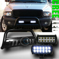 BLK BULL BAR BUMPER GUARD+36W CREE LED FOG LIGHTS 1997/1998-2004 DAKOTA/DURANGO