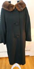 Vintage Fur trimmed Black Coat by Craigleigh from Sage Allen of Hartford