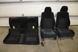 1997-2001 Honda Prelude Front Rear Cloth Seats - Charcoal - Driver / Passenger