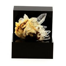 Quartz cristal de roche et Siderite. 148.0 ct. Le Trou des Chasseurs, Vizille