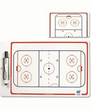 Blue Sports Dry Erase 2 Sided Ice Hockey Coach Strategy Board With Marker