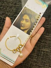Indian Imitation Jewellery/ Bridal/Party/ Gold, Pearl Nath Nose Ring