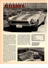1967 FORD ALLEGRO II CONCEPT CAR  ~  GREAT ORIGINAL ARTICLE