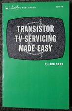 Transistor TV Servicing Made Easy Vintage Electronics Television Repair 1970