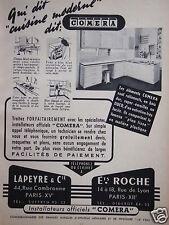 PUBLICITÉ 1953 LAPEYRE & CIE ETS ROCHE AVEC INSTALLATEURS COMERA  - ADVERTISING