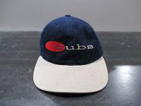 VINTAGE Chicago Cubs Hat Cap Blue Brown MLB Baseball Strap Back Mens 90s