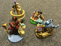 Rare Disney Store Classics Aladdin Jasmine Genie Jafar PVC Collectible Figures