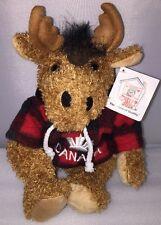 New Rare Vtg RETIRED Stuffed Animal House CANADA Moose Plaid Plush w/Tags TB-06