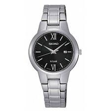 Relojes de pulsera solar de acero inoxidable, para mujer