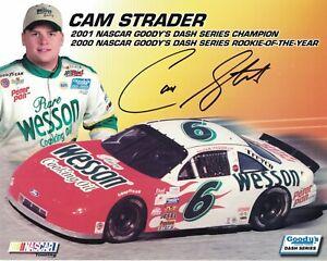 Cam Strader Signed Autographed 8 x 10 Photo Nascar Driver