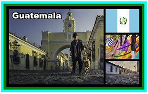 Guatemala, Central América - Recuerdo Novedad Imán de Nevera/Monumentos/Regalos