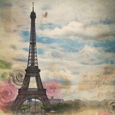 10x10ft Retro Paris Tower Photography Backdrop Scenic Photo Background