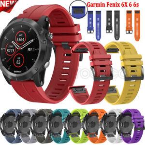 For Garmin Fenix 5/5S/5X Plus 6/6S/6X Pro Sapphire 3HR Silicone Strap Watch Band
