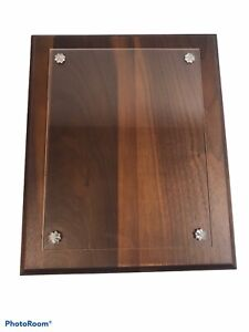 """8.5"""" x 11"""" Walnut Document and Diploma Picture Frame SOLID WOOD New Old Stock"""