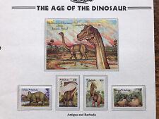 antigua and barbuda stamps 1992 Dinosaurs MNH