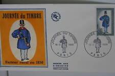 ENVELOPPE PREMIER JOUR SOIE 1968 JOURNEE DU TIMBRE