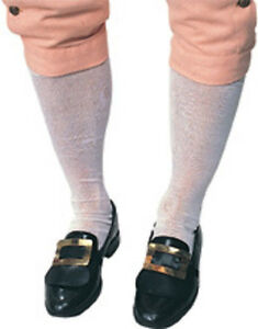 Colonial Hose Socks Tights Fancy Dress Up Halloween Costume Accessory 2 COLORS